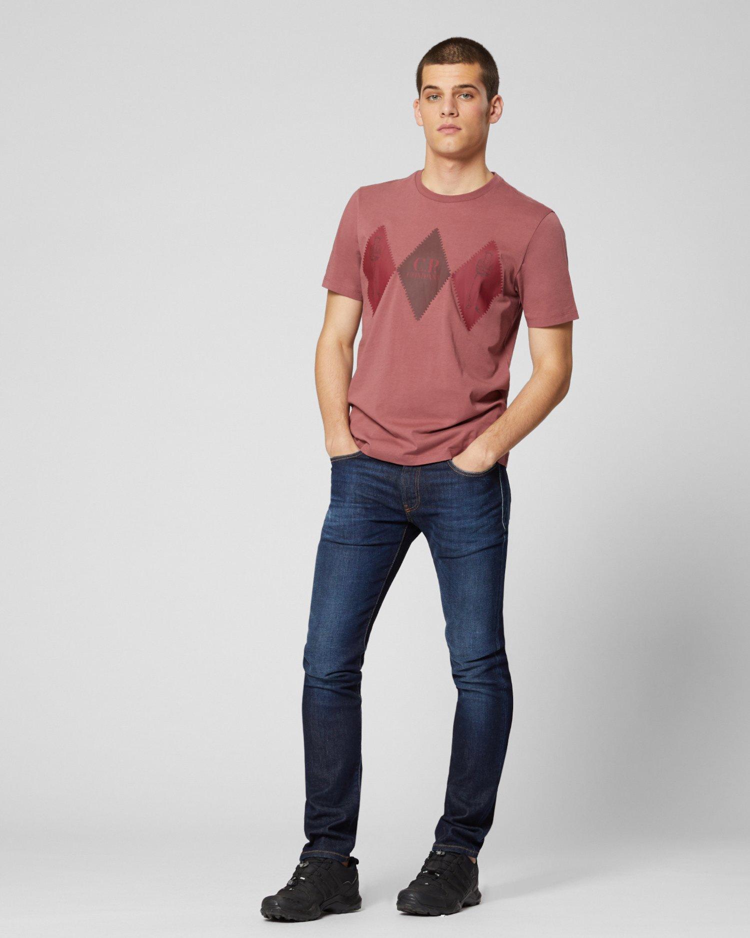 Jersey 30/1 Diamonds Front T-Shirt