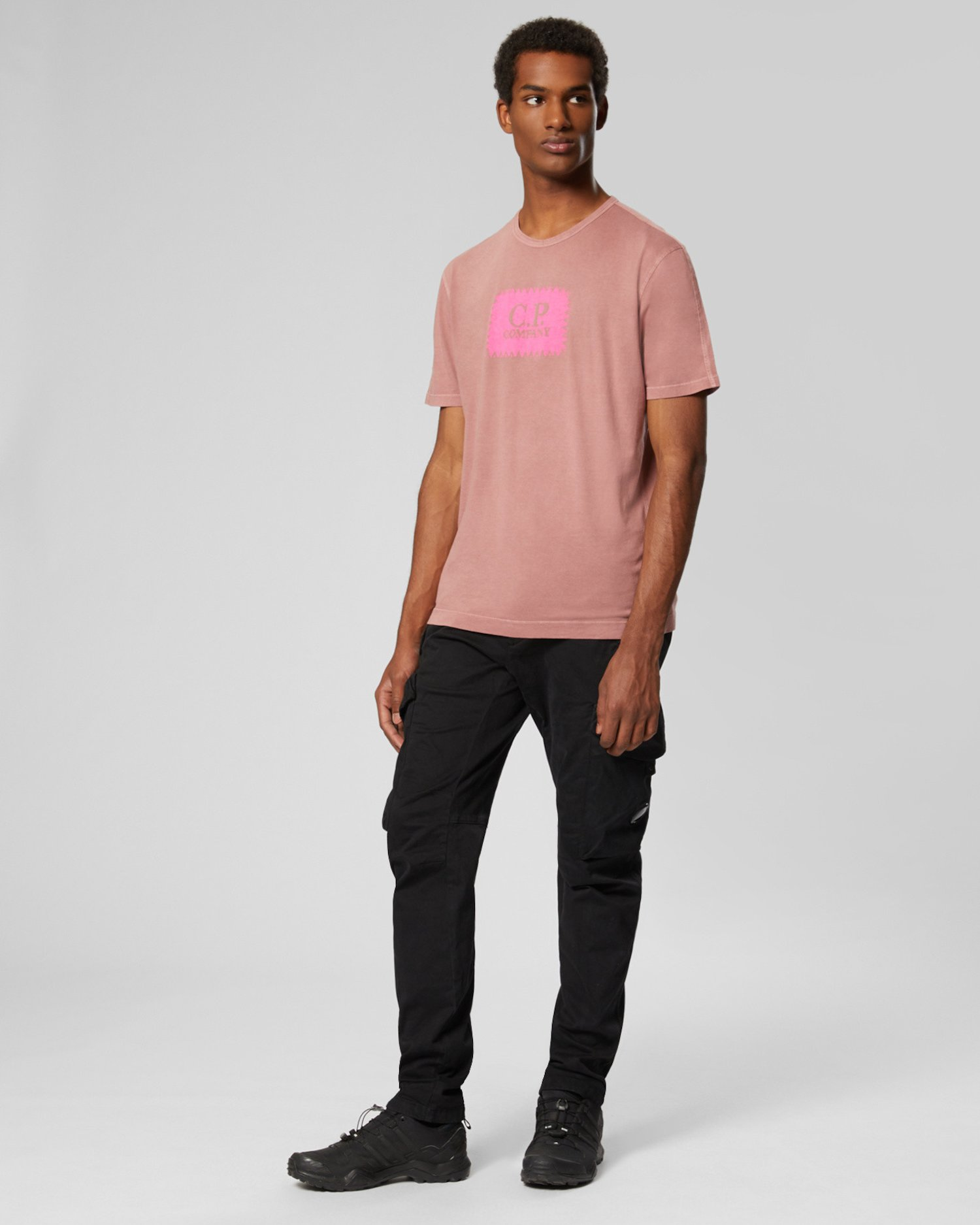 Kurzärmliges Jersey-T-Shirt mit Re-Colour-Technik