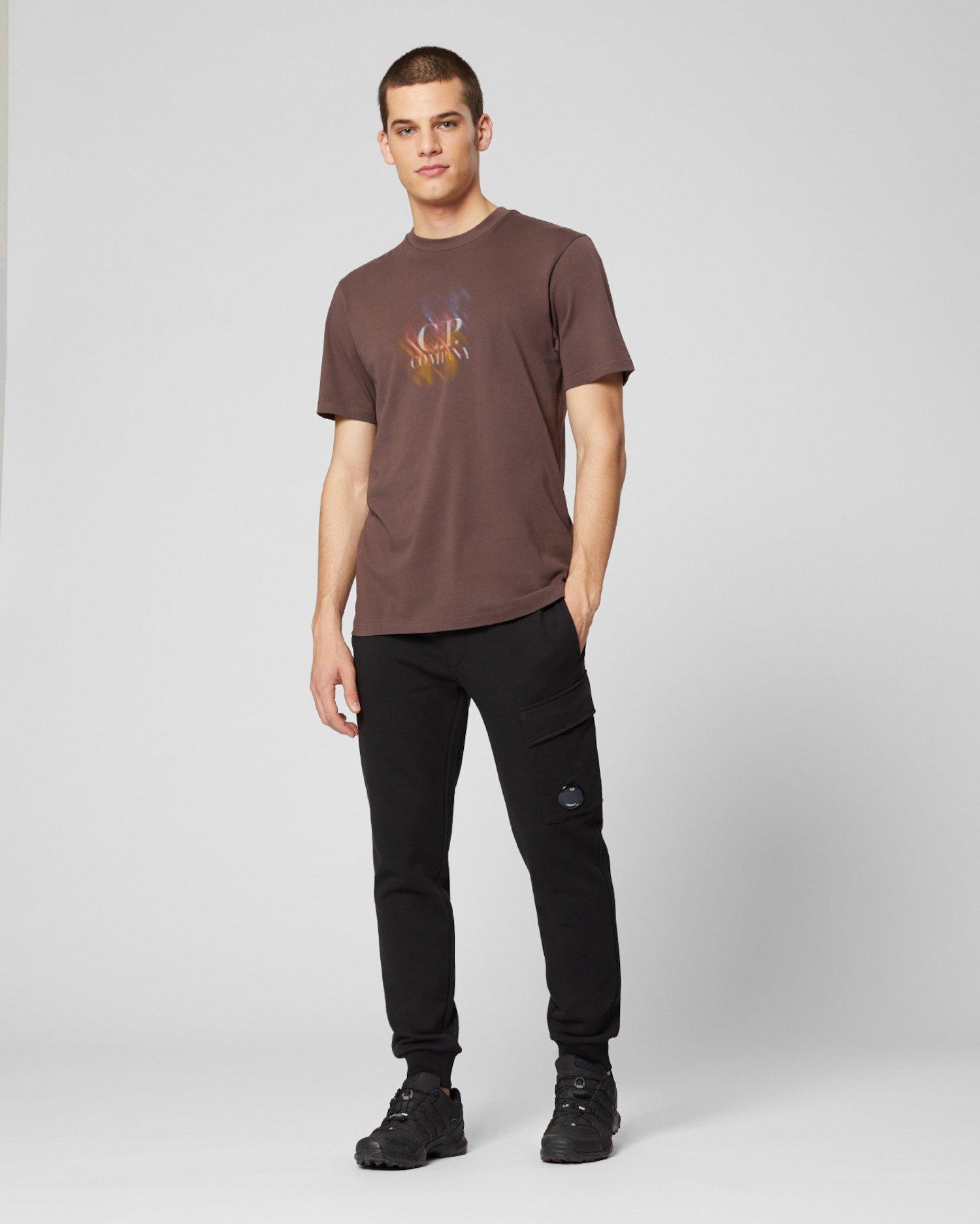 Jersey 20/1 Diagonal Blur Logo T-Shirt