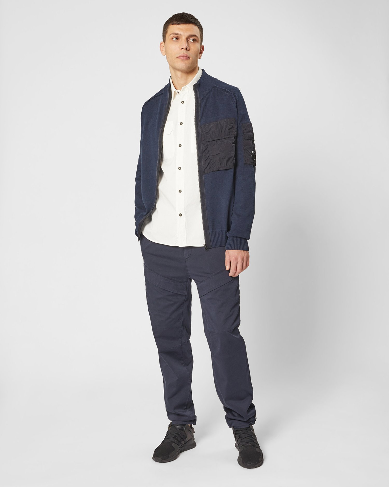 Garment Dyed Gabardine Button-up Shirt