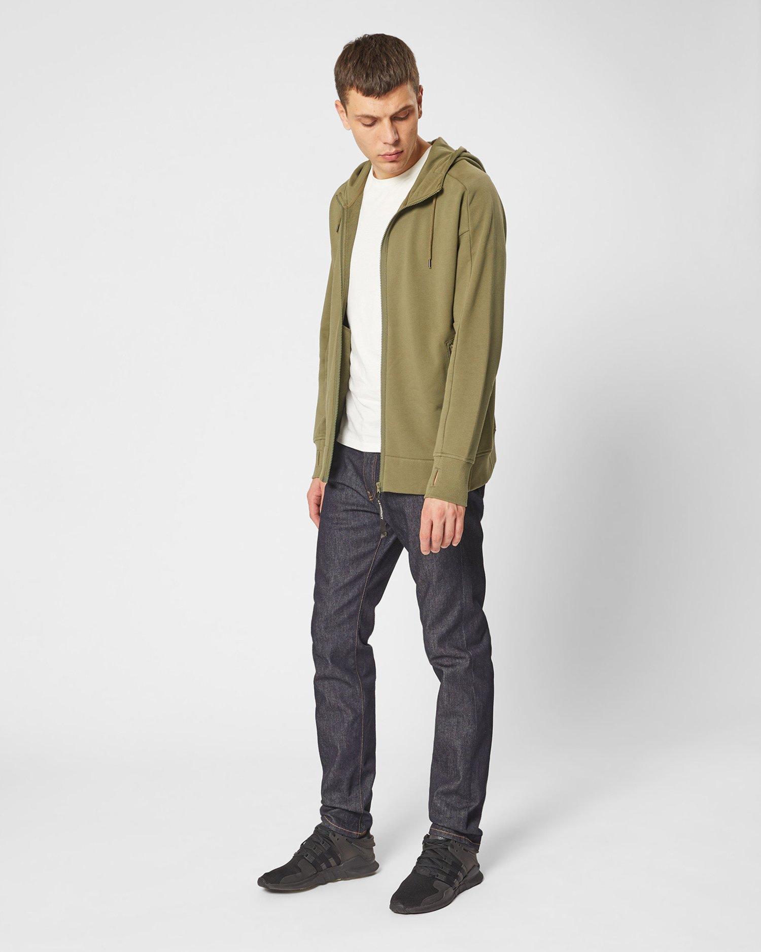 Diagonal Fleece Goggle Hood Sweater