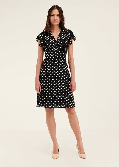 Amie heart print dress