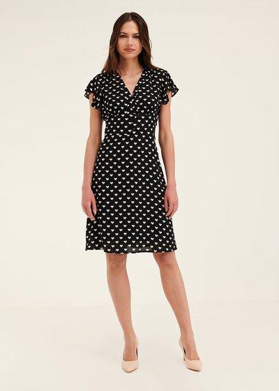 Amie heart print dress