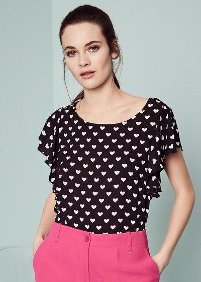 Samie heart print T-shirt
