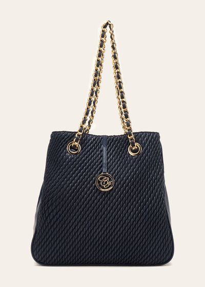 Brian shopping bag with embossed panel