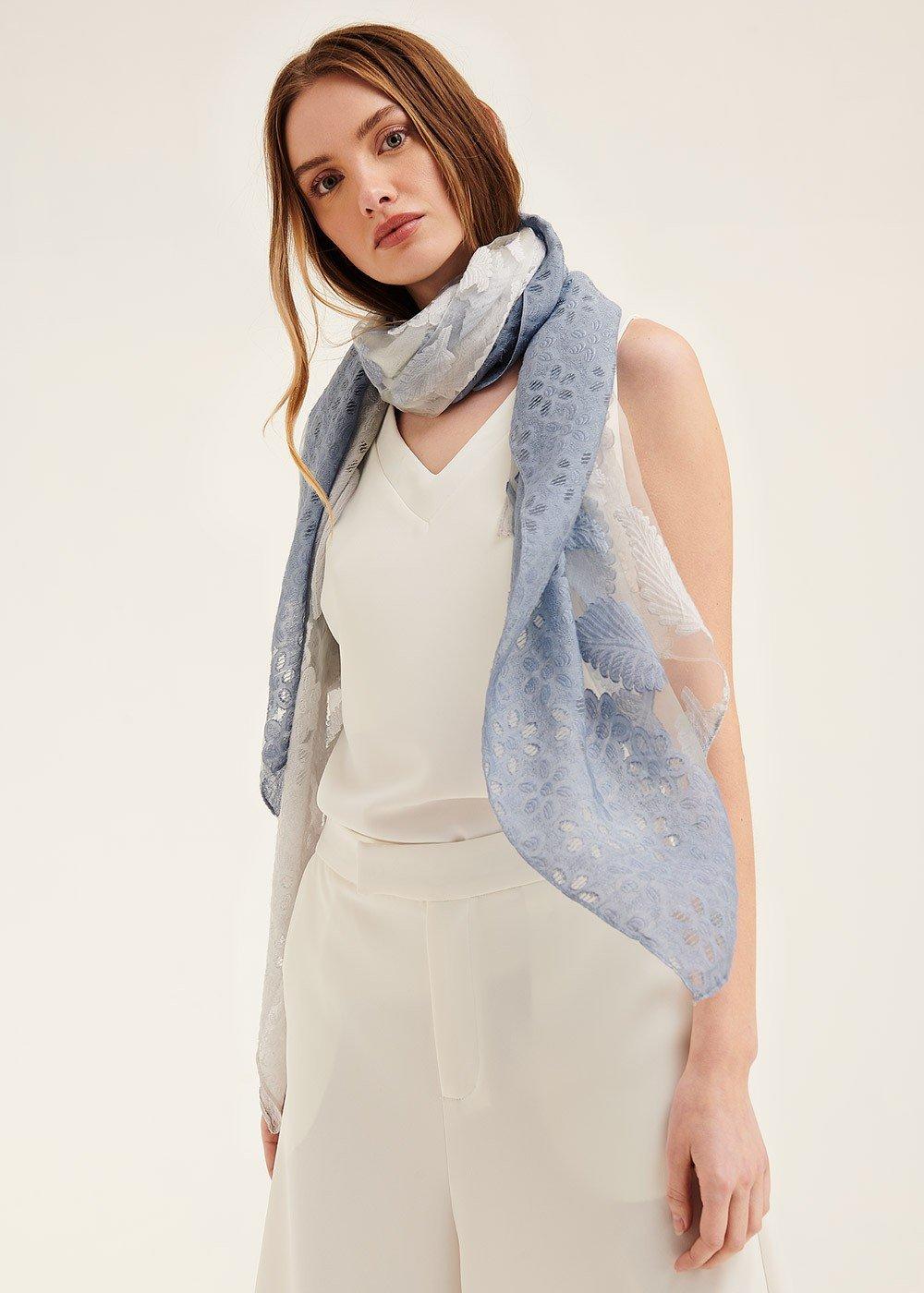 Sylvia scarf with embroidery - Rugiada - Woman