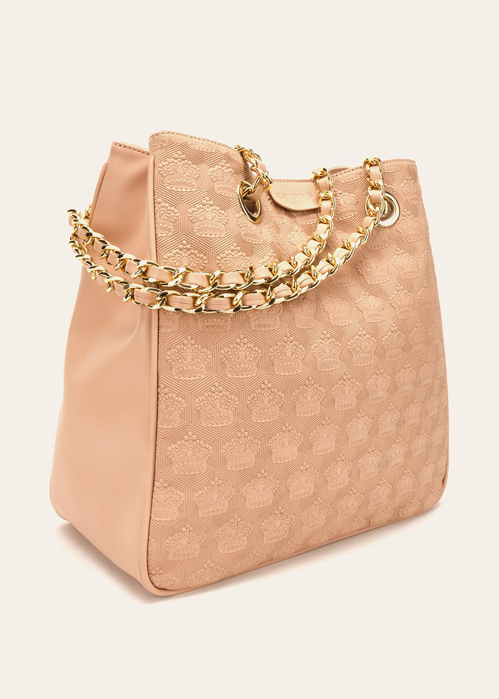 Bagsy shopping bag with embossed crowns - Pink - Woman