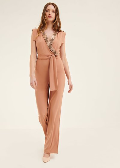 Thea jumpsuit with sequined border