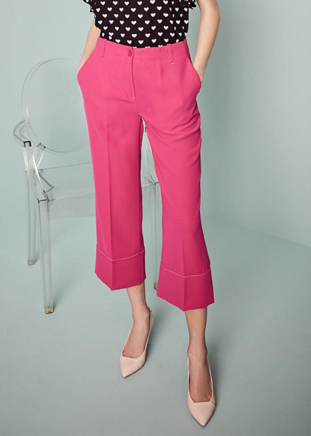 Pantalone Sara con bordo a contrasto - Gloss - Donna