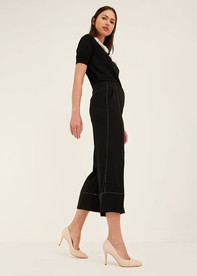 Sara trousers with contrasting hem