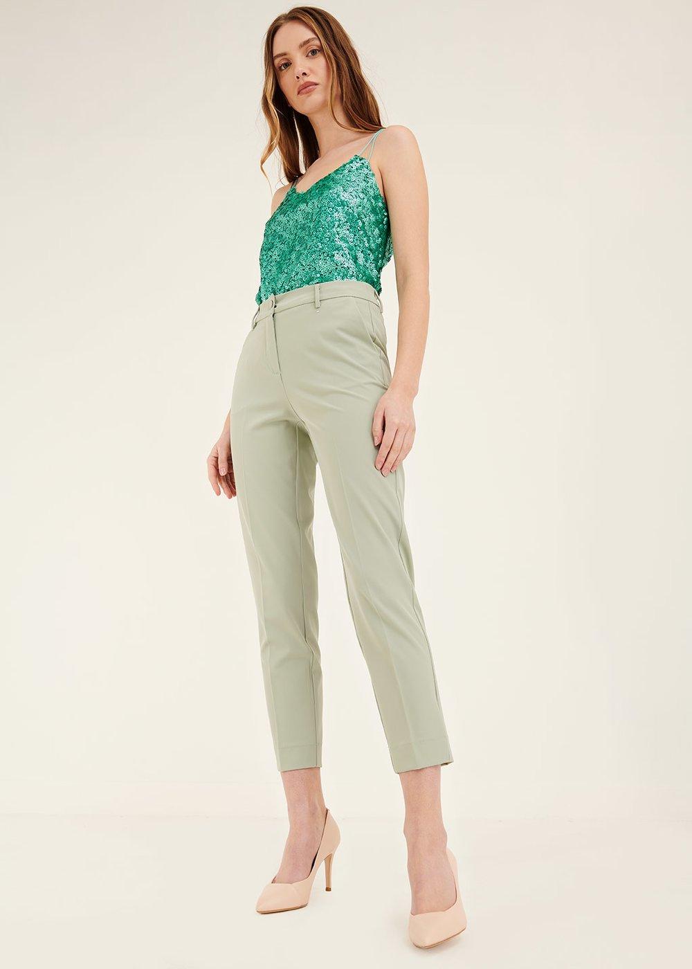 Pantalone Modello Alice tasche uomo - Argilla - Donna