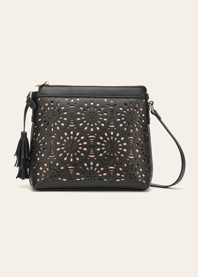 Beck openwork faux-leather shoulder bag