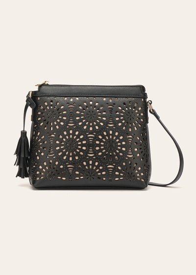 Beck openwork faux-leather shoulder bag