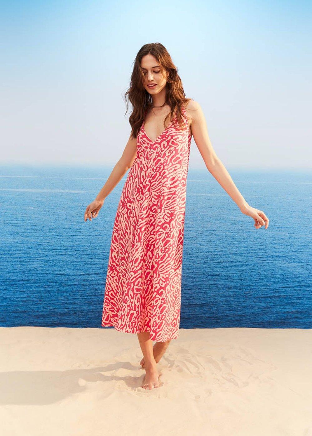 Alonso animal print dress - Gloss \ Sepia \ Animalier - Woman