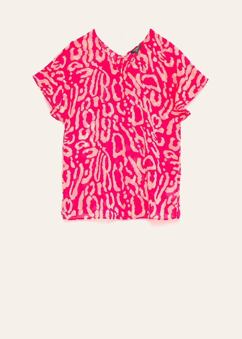Cornelia animal print blouse - Gloss \ Sepia \ Animalier - Woman