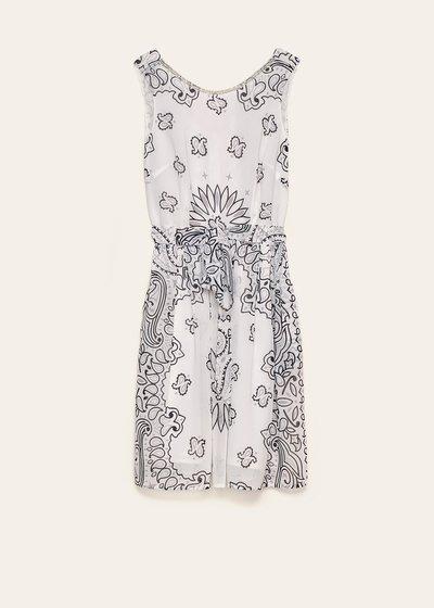 Aryen dress with macro paisley pattern