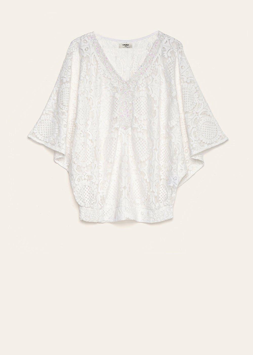 Cadyd cotton lace blouse - White - Woman