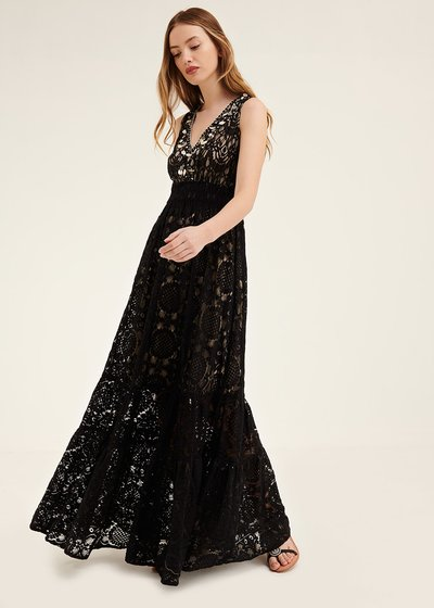 Anthony embroidered lace dress