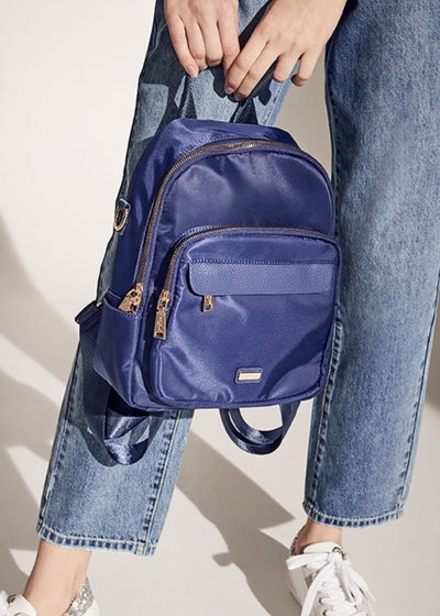 Bart nylon and faux-leather backpack