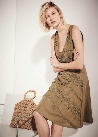 Achille dress with lace details