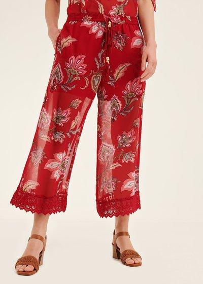 Porter paisley capri trousers