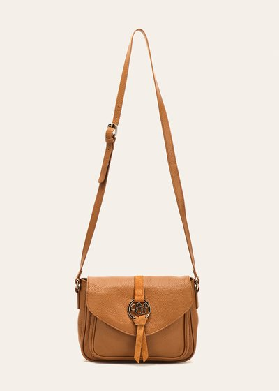 Belinda shoulder bag with flap fastening