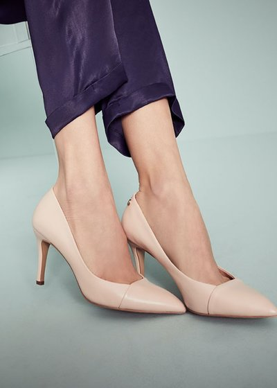 Sindy genuine leather court shoes