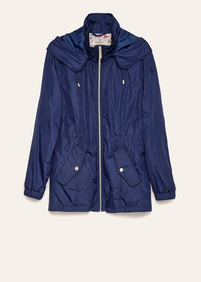 Gabriel nylon jacket with floral lining