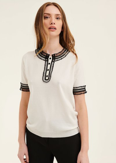 Mara t-shirt with tulle details