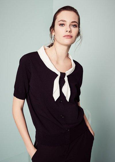 T-shirt Marica con sciarpina a contrasto