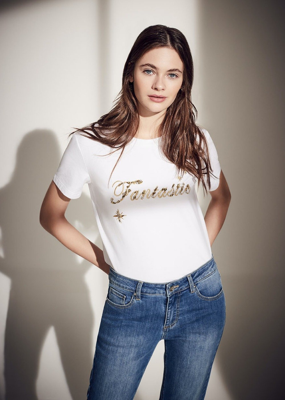 Sandys t-shirt with lettering - White - Woman