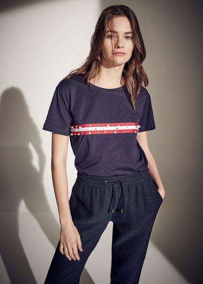 T-shirt Susan con righe a contrasto
