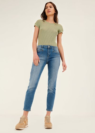 Phillis denim capri trousers