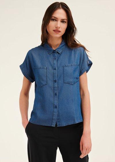 Carol short-sleeved denim shirt