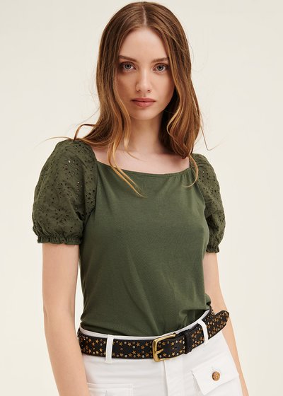 Sibylle t-shirt with puff sleeve