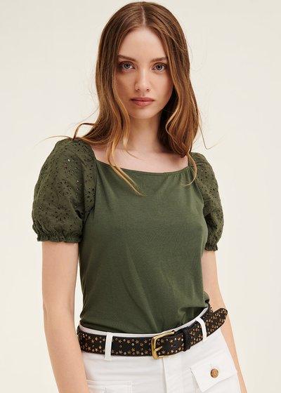 T-shirt Sibylle con manica sbuffo