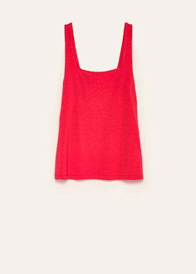 Ted basic top with square neck