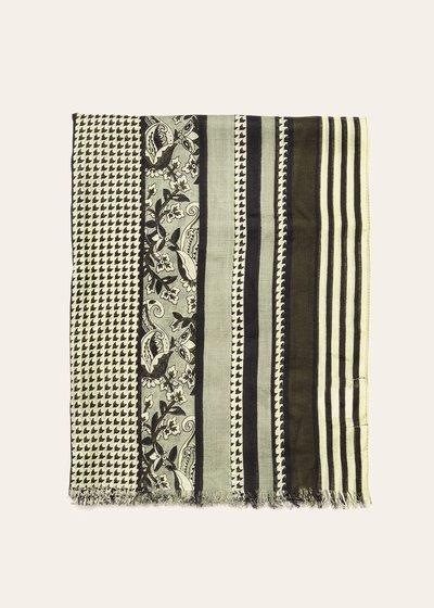 Syl fringed scarf