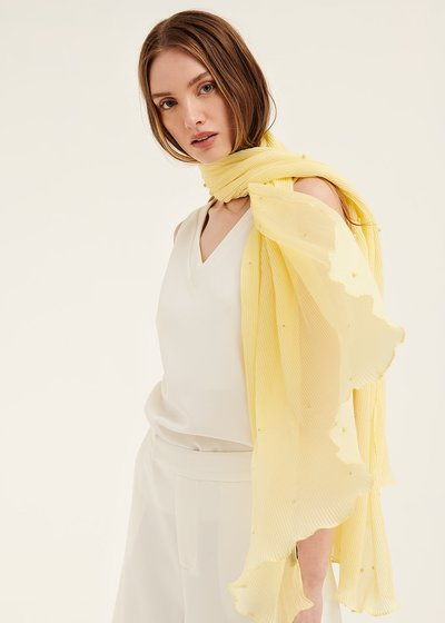 Steyl pleated scarf with pearls