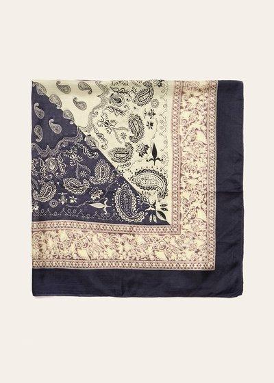 Samyl scarf with bandana print