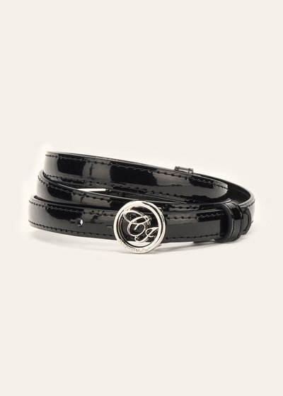 Candyl thin patent leather belt