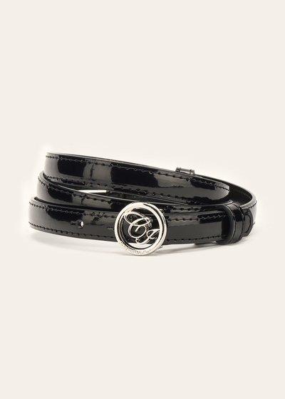 Candyl thin patent leather belt