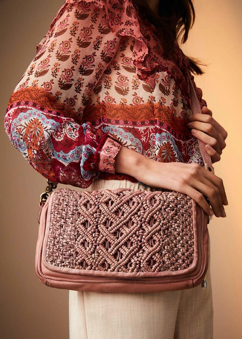 Backy genuine leather clutch bag - Skin - Woman