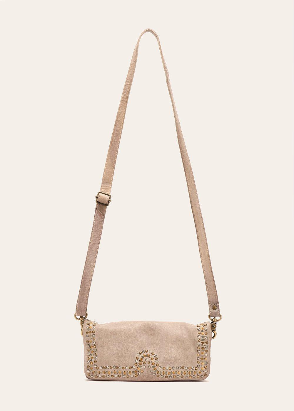Brend genuine leather clutch bag - Amethyst - Woman