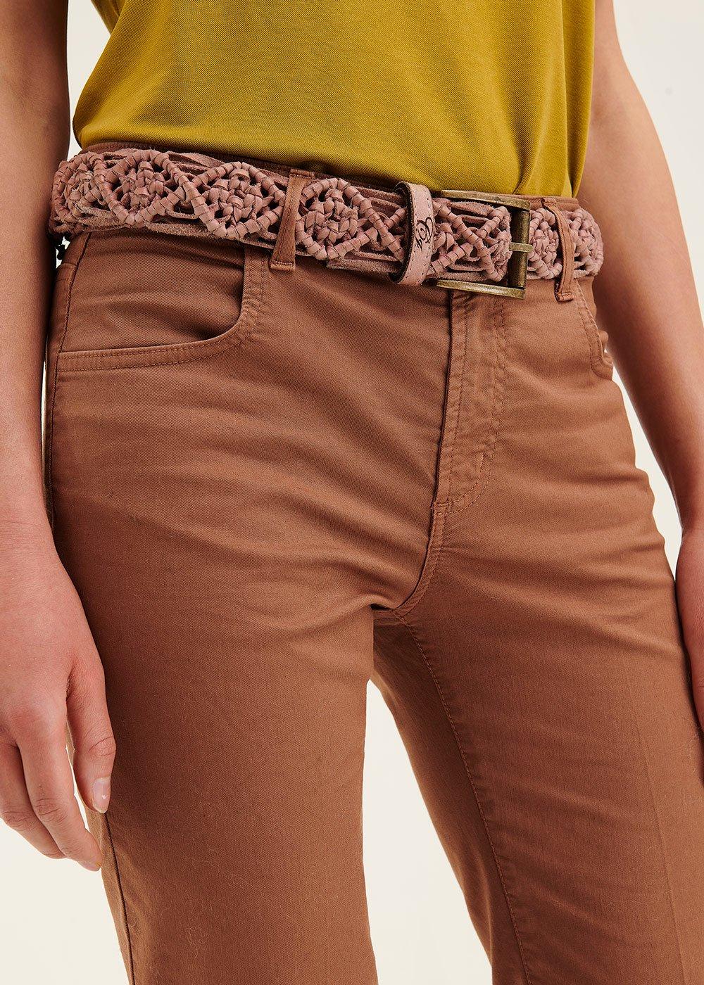 Carly genuine leather belt - Skin - Woman
