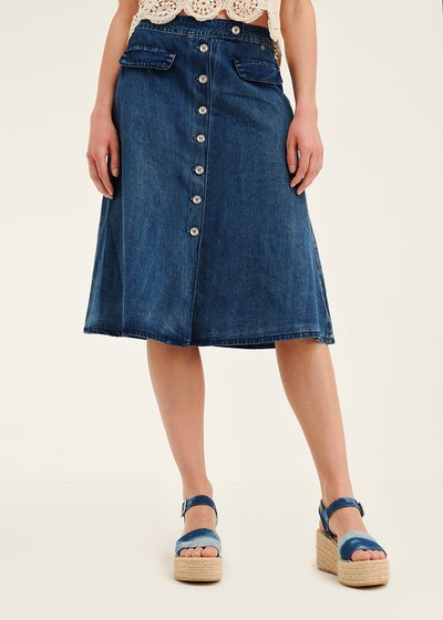 Giuly denim skirt with front buttons