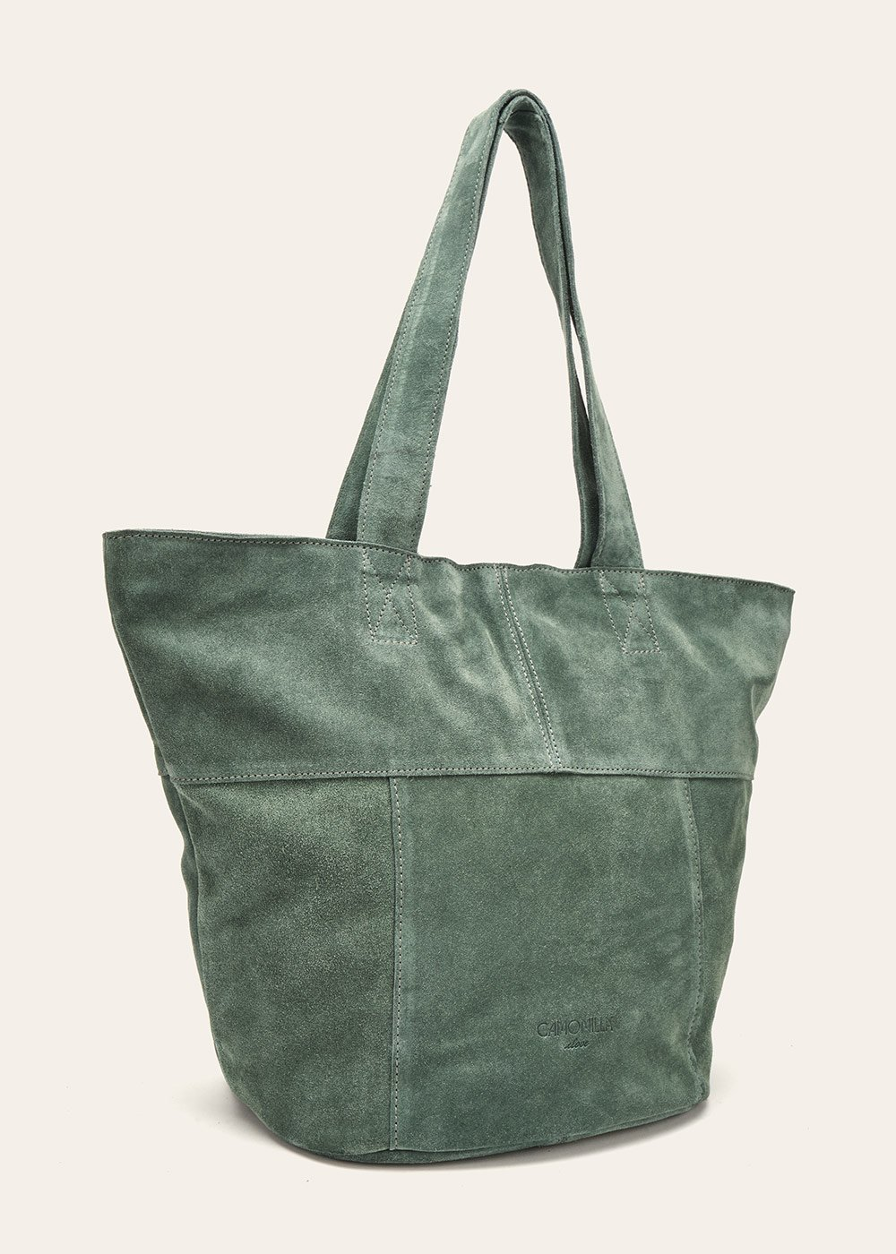 Britney unlined genuine leather shopping bag - Sasso - Woman