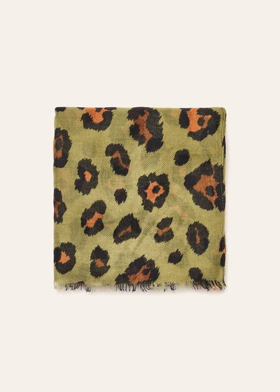 Sheren animal print cotton scarf