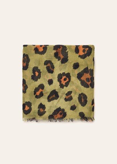 Sciarpa Sheren in cotone stampa animalier