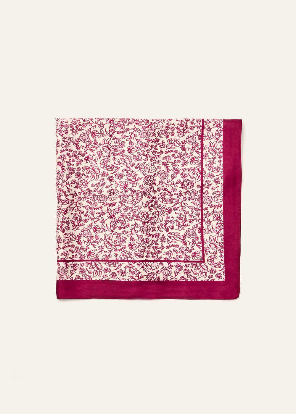 Sarah maxi scarf with flower print - Anemone Fantasia - Woman